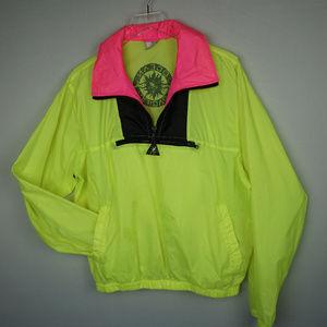 Vintage 80s Neon OP Color Block Windbreaker M